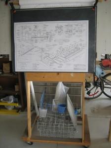 Wood Plan Stand