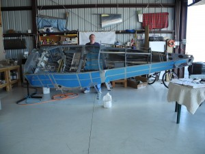 Dave and the RV-9A fuselage