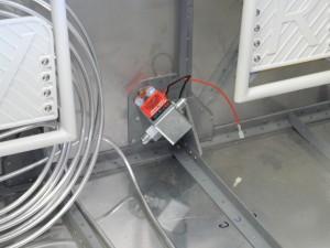 Fuel pump on firewall