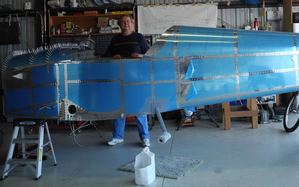 Dave with RV-9A fuselage