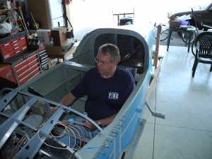 sitting in RV9A fuselage