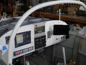 Mount for Tablet in RV-9A instrument panel.